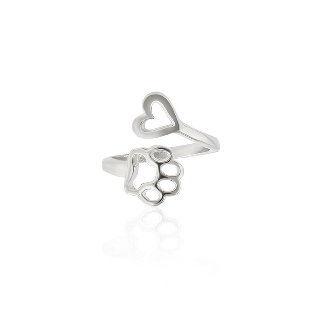 Heart + Paw Adjustable Rings 2