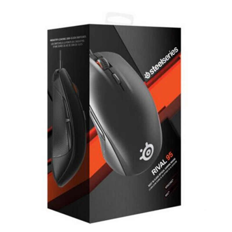 ブランド新 SteelSeries ライバル 95 光学式ゲーミングマウス-ブラック/PC ビッグバンプレミアム版、非 LED 版。のライバル 100