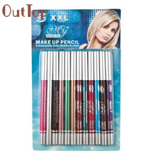 12pcs Cosmetics Makeup Waterproof Eye Liner Pen Eyeliner lapiz de ojos 17Apr28
