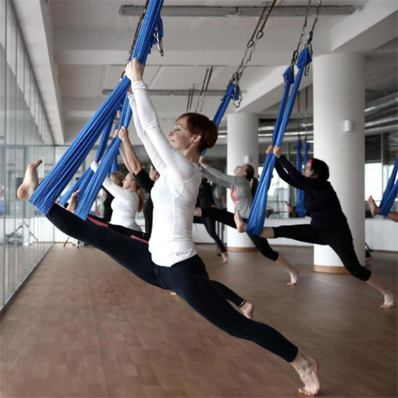 Humor Elastic 5 Meters Aerial Yoga Hammock Swing Latest Multifunction Anti-gravity Yoga Belts For Yoga Training Yoga For Sporting Yoga Belts Sports & Entertainment