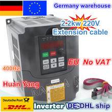 DE delivery free shipping  NEW item 2.2KW Variable Frequency Drive VFD Inverter 3HP 220V стоимость
