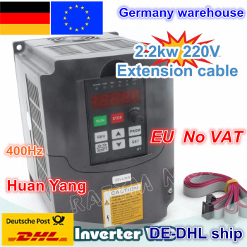 DE free VAT 2.2KW Variable Frequency Drive VFD Inverter 3HP 220V / 380V VSD CNC speed control Spindle Engraving Milling Machine