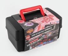 어린이 소년 Beyblades 금속 융합 세트 스토리지 박스 탑 Beyblade 버스트 발사기 완구 YH1168