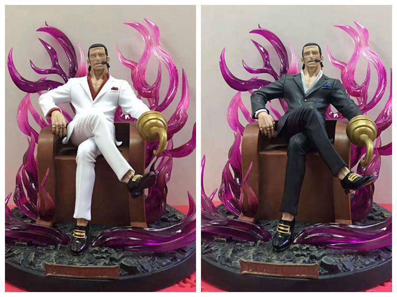 Figurine animé One Piece 2 Styles modèle Sir Crocodile trône poupées décoration Collection Figurine jouets de noël cadeaux 18 cm