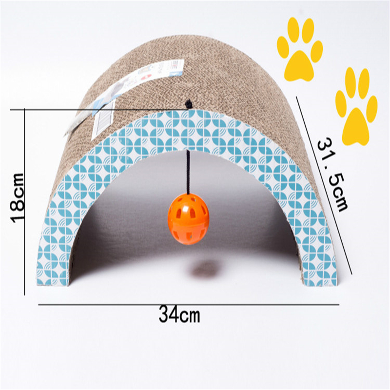 Arch Shape Corrugated Paper Cat Scratch Toys For Cat Grind the Claw Rest Sofa With Ball Pet Cat Training Toy S10