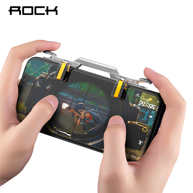 ROCK Mobile Game Fire Button Aim Key Phone Gaming Trigger for PUBG Rules of Survival L1 R1 Shooter rockspace eb30
