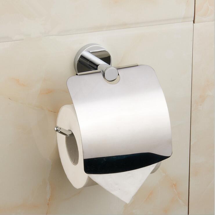 Moderne Chrome porte-papier hygiénique porte-rouleau de papier distributeur salle de bain étagères papier cintre