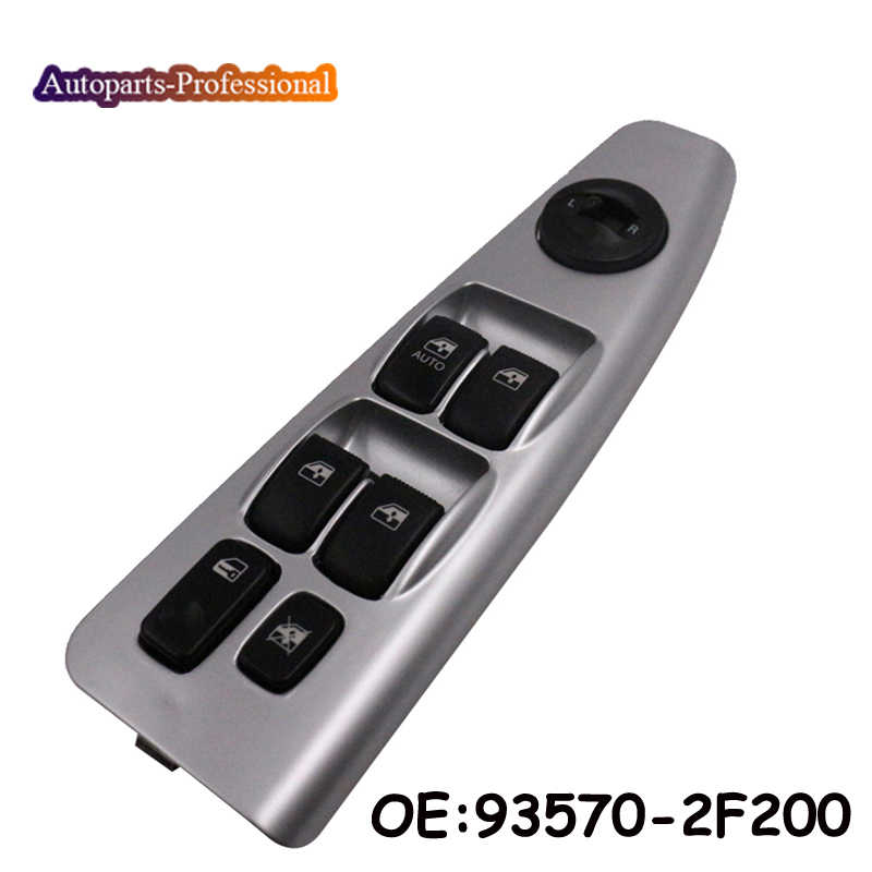 Hlyjoon 93570-2F200 Car Auto Power Window Master Control Switch Front Driver Side Switch Button for Kia Spectra Cerato 2004 2005 2006 2007 2008 2009