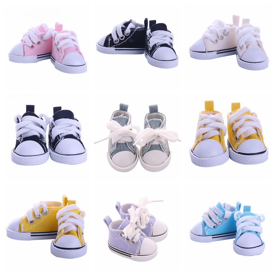 5cm Canvas Shoes For 1/6 BJD Doll Fashion Mini Shoes Doll Shoes for Russian DIY handmade doll Doll Accessories Free Shipping image