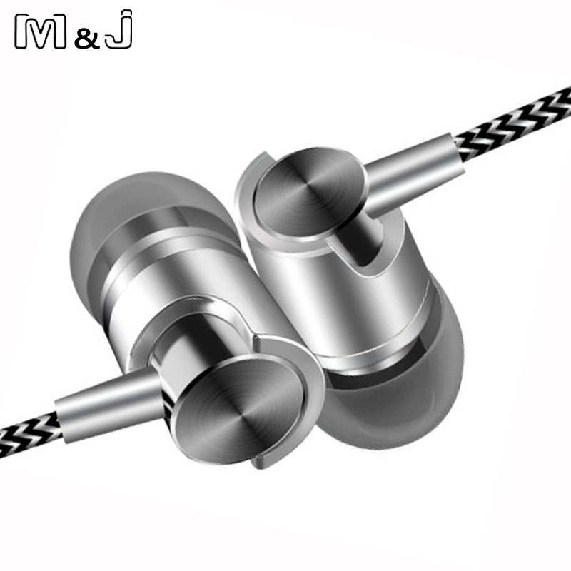 M&J J7 In-Ear Earphone For iPhone 6 5 Xiaomi Hands free Earbud With Mic Bass Earbuds Stereo Earphone For Samsung Earpiece marsnaska new shoelaces noise cancellation earpiece stereo metal bass earphone 3 5mm earbuds with mic for iphone xiaomi samsung