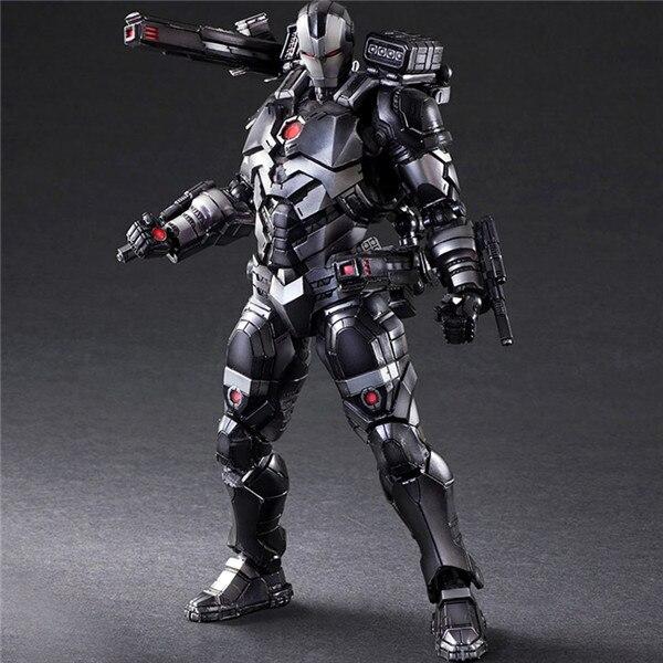 Играть искусств Marvel Мстители 3 Бесконечная война Железный человек Фигурки 1/6 ПВХ игрушки War Machine PA модель 27 см