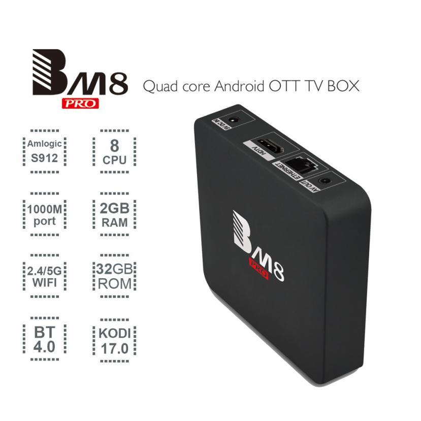 ФОТО BM8 PRO S912 Android 6.0 TV Box Octa -Core 2GB DDR3 + 32GB WiFi HD Media Player