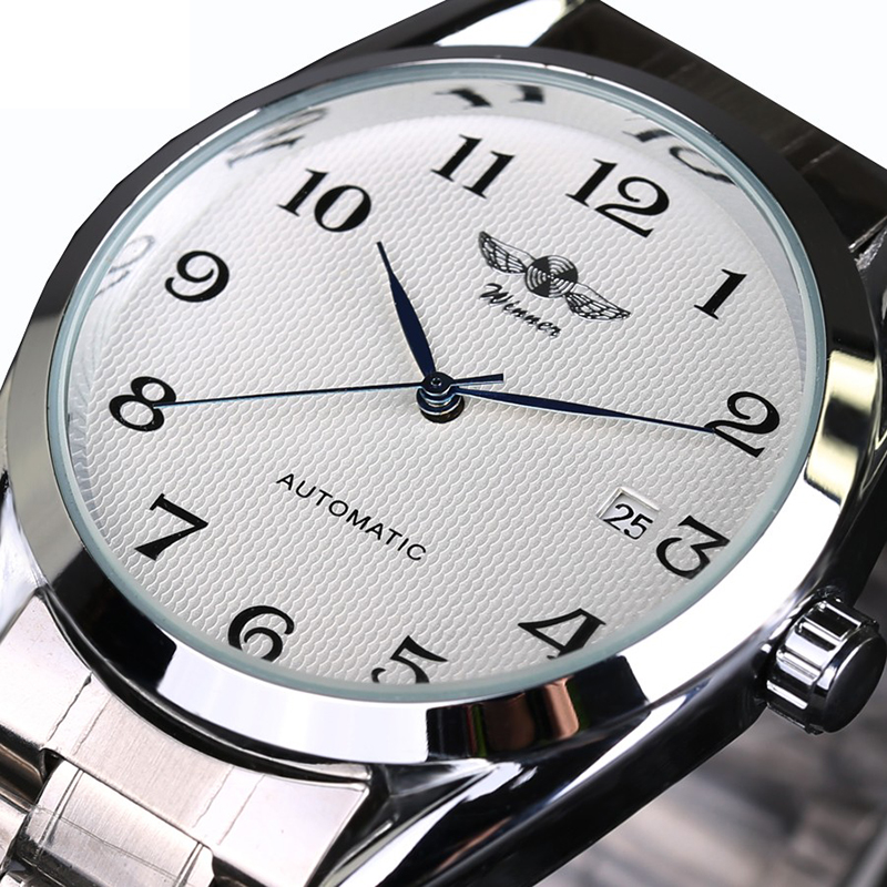 Top Luxry Brand Winner Men Automatic Mechanical Wrist Watches Stainless Steel Business man Watch Male Valentines Day GiftTop Luxry Brand Winner Men Automatic Mechanical Wrist Watches Stainless Steel Business man Watch Male Valentines Day Gift