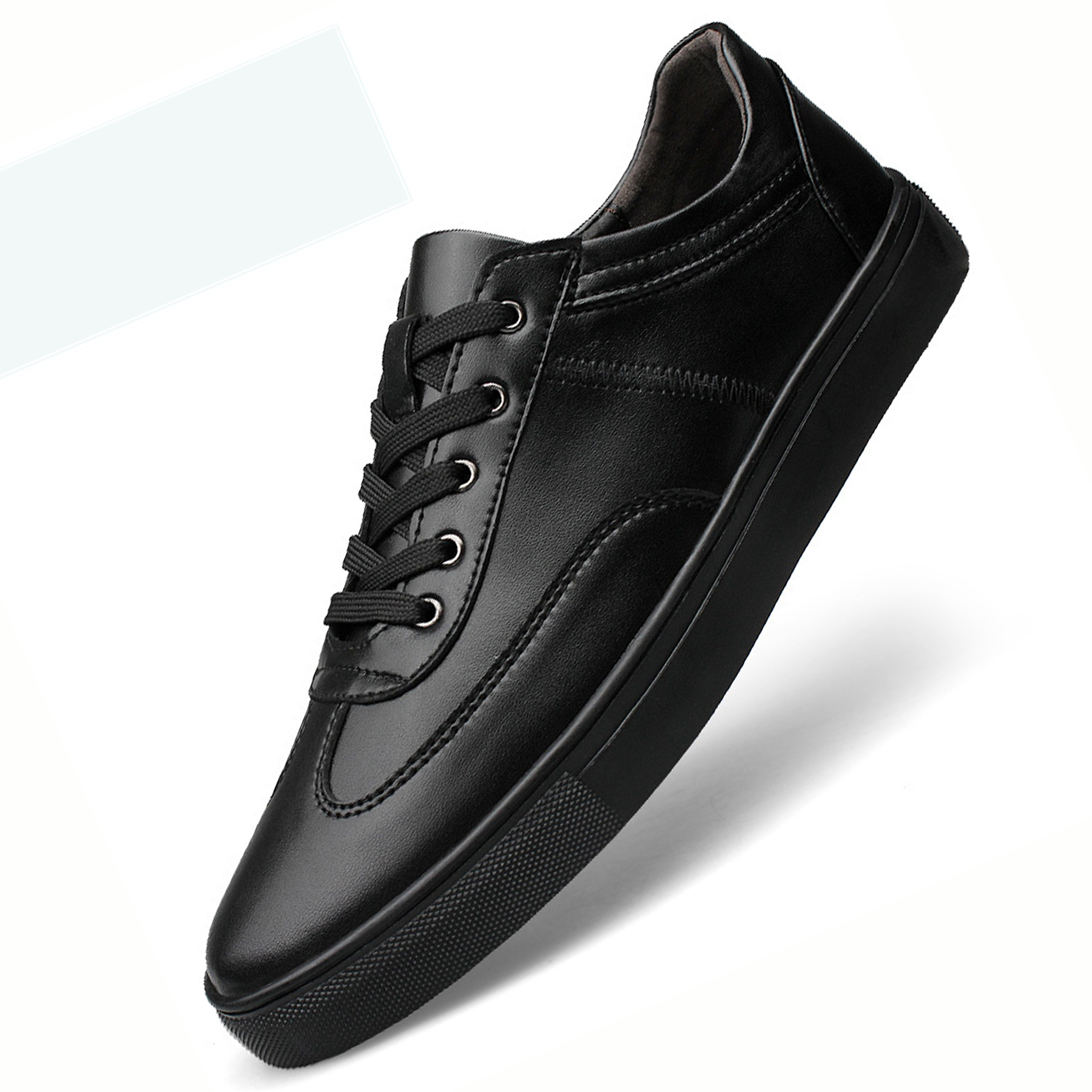 Hot Men Spring Autumn Shoes Men's Leather Shoes Black White Casual Lace Up Loafers Leather Men's Flats Oxford Shoes Big 35-49 new 2017 spring autumn flats men canvas shoes fashion mens casual shoes thick sole classic black white lace up brand th027