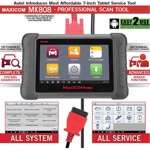 Image 4 - Autel MaxiCOM MK808 OBD2 スキャナー診断スキャンツールすべてのシステム診断サービス機能コードリーダー MD802 + MaxiCheck プロ