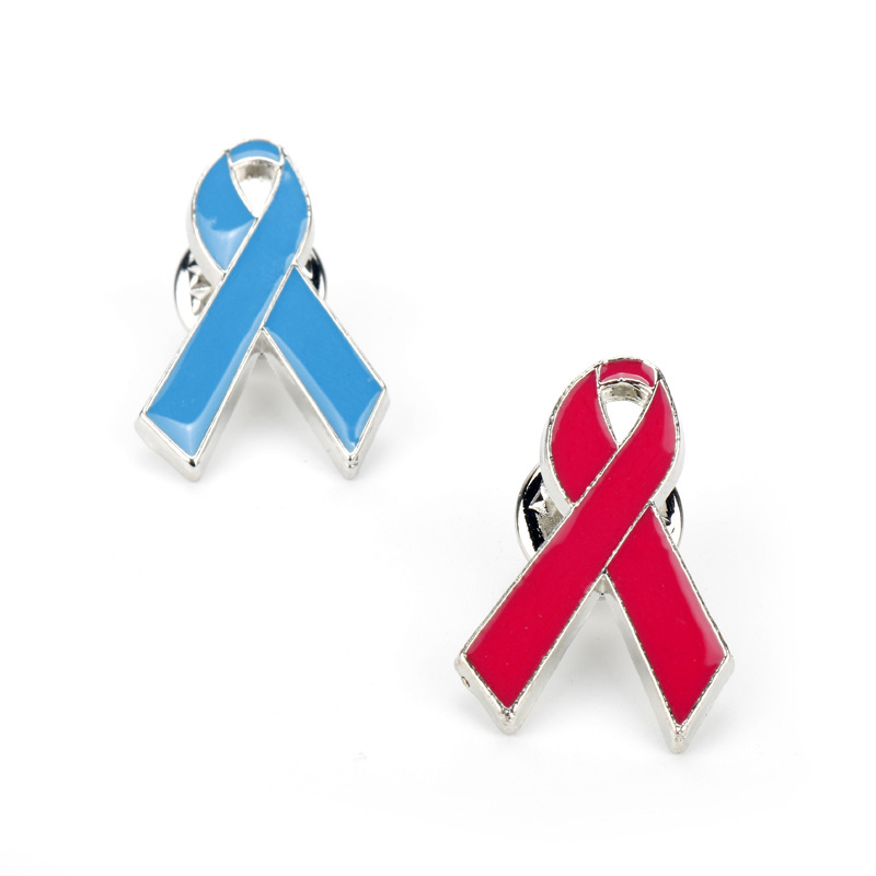 Creative Jewelry Hiv World Aids Day Sign Red Ribbon Symbol Brooch
