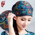 Мексиканский стиль весна и осень этническая винтаж вышивка цветы банданы оригинальный черный красный синий печати hat cat бесплатная доставка