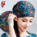 Mexican style spring and autumn ethnic vintage embroidery flowers bandanas original black red blue print hat cat free shipping