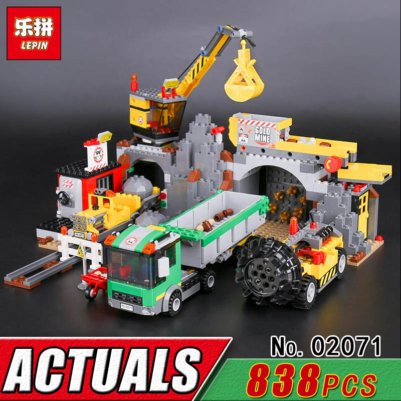 LEPIN 02071 City Series 838Pcs The City Mine Model Building Blocks Children Compatible 4204 Bricks Educational Classic Toys Kids 4695pcs lepin 16001 city series firehouse headquarters house model building blocks compatible 75827 architecture toy to children