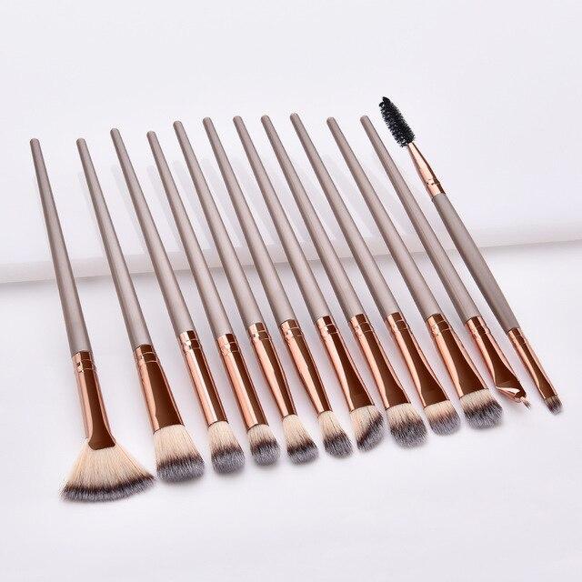 12Pcs แปรงแต่งหน้าชุดเครื่องมือเครื่องสำอางค์อายแชโดว์ Foundation Blush Blending Beauty Make Up ชุดแปรง Maquiagem DROP เรือ