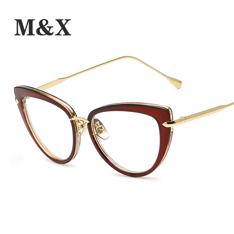 193f26c0247 M X Sexy black cat eye glasses frames for women ladies Big clear glasses  women optical frame brand luxury metal 97068-in Eyewear Frames from Apparel  ...