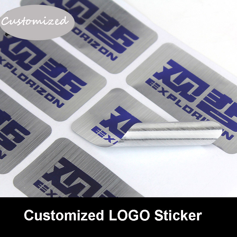 Customized Matter/Golden/Silver Drawbench Sticker Brand Logo Sealing Stickers Company QR Code Sticker PVC Stickers Wholesale книжки с наклейками мозаика синтез милашки очаровашки форма