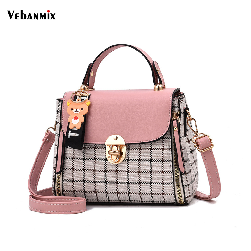 Vebanmix Fashion Shoulder Bag Women Designer Luxury Handbags Women Bags Sweet Girls Patchwork Messenger Crossbody Bag for Women