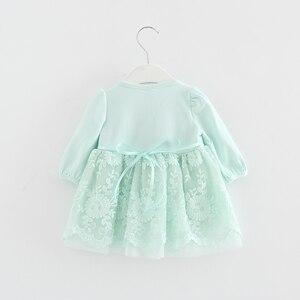 Image 5 - Koronkowy haft perły dziewczynek sukienka dziewczynka ubrania sukienki dla dzieci dzieci odzież suknia vestidos 0 2 lat 3 kolor
