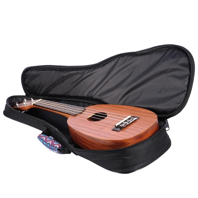 Ukulele Bag Folk Style Portable Ukulele Bag Case Cover Backpack Single Shoulder For Ukulele 21''/23''/26'' Small Guitar Gig Bag