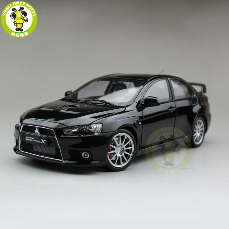 ФОТО 1:18 Mitsubishi Lancer EVO-X EVO X 10 Left Steering Wheel Diecast Model Car Black