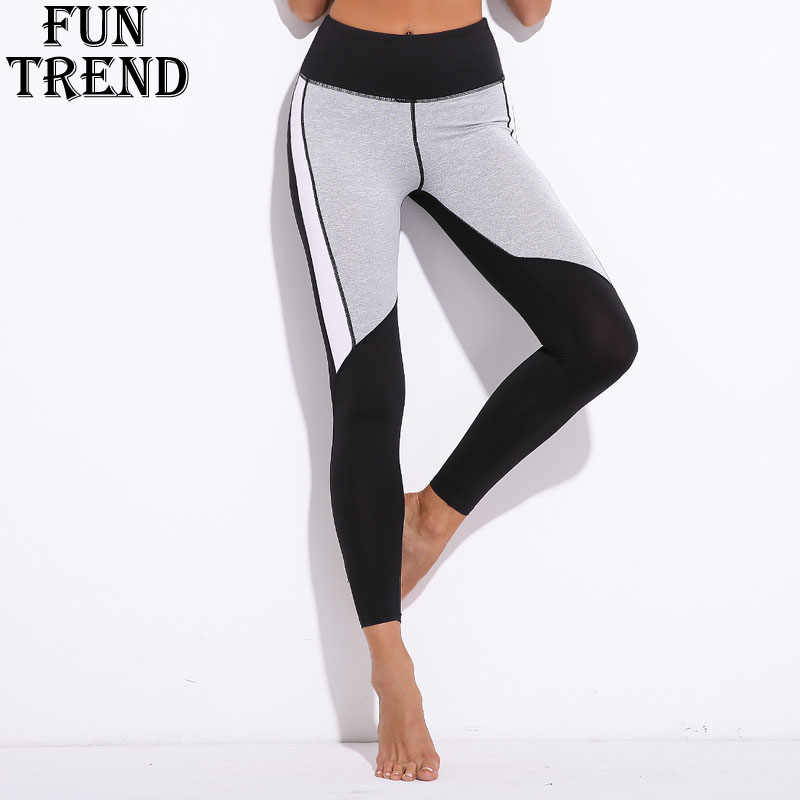 Leggings Sport Fitness Elastic Waist Yoga Pants Women Full Length Yoga Leggings Jogging Sport Pants Sportswear Women Gym Clothes