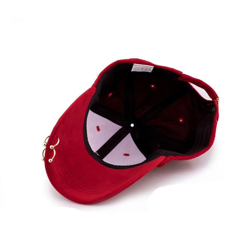 e038f602bc3 2019 Hot Sale High Quality Snapback Curved Brim Eaves Baseball Cap Metal  Pendant Peaked Cap Women Hats Korean Pop-in Baseball Caps from Apparel  Accessories ...