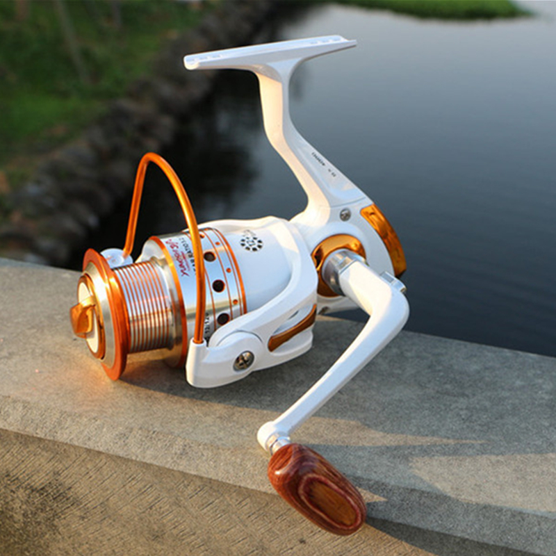 Metal Lure Spool Fishing Drag Spinning Reel met grotere spoel 12BB - Visvangst - Foto 2