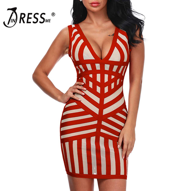 INDRESSME Women Bandage Dress Mesh Patchwork Sleeveless Sexy Bodycon Party Club Dress Wholesale Vestidos 2018