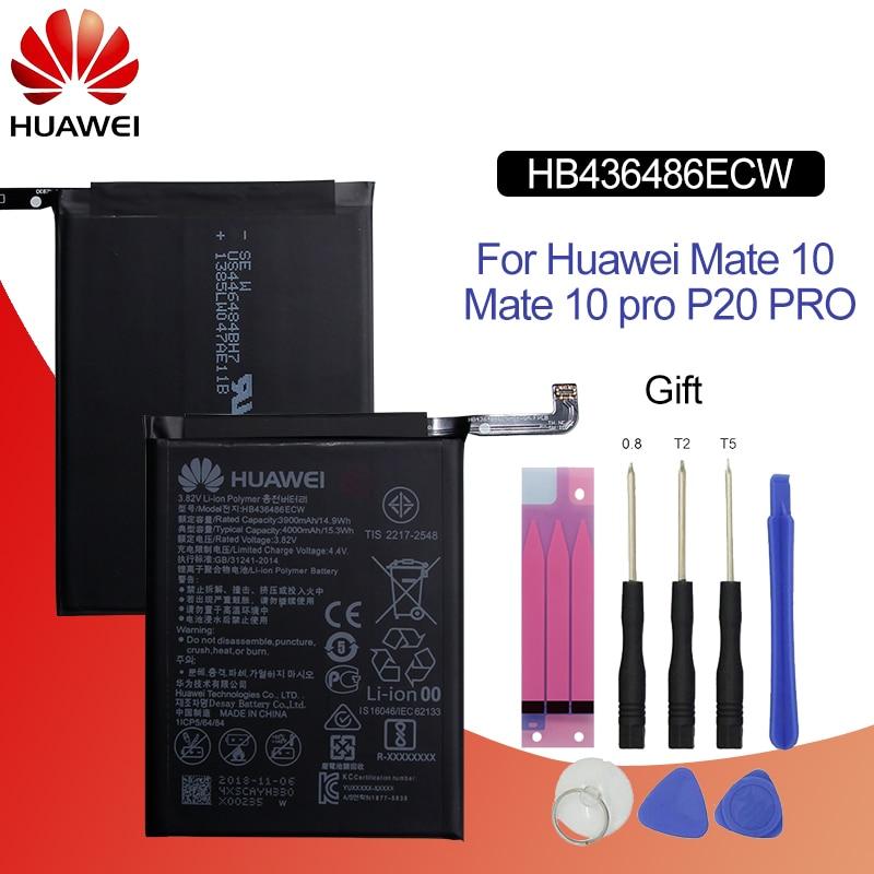 Hua Wei Original Phone Battery HB436486ECW 3900mah For Huawei Mate 10 / Mate 10 Pro Lite / P20 Pro Batteries + Tools