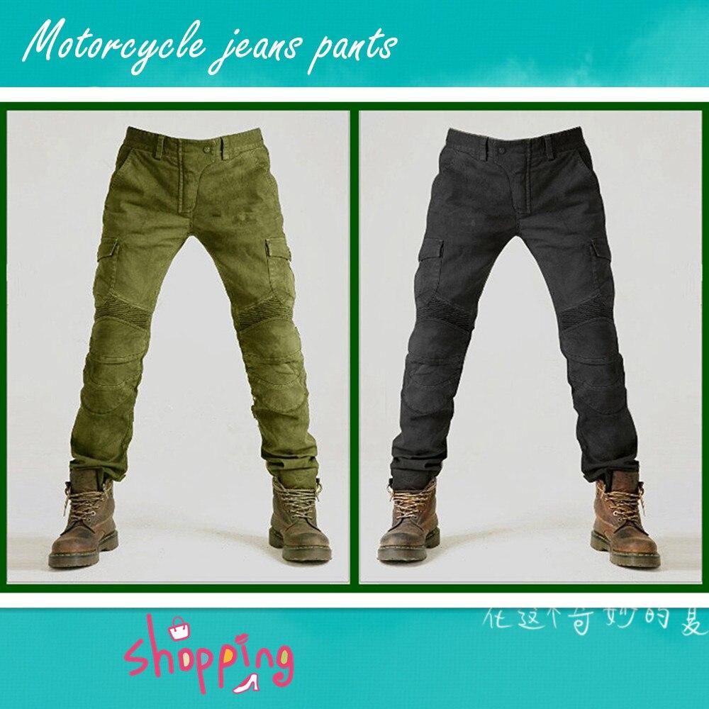 Мотоцикл джинсы брюки армия зеленый брюки джинсы Мото брюки для верховой езды для туристов, свободные Локомотив Комине джинсы с пленки