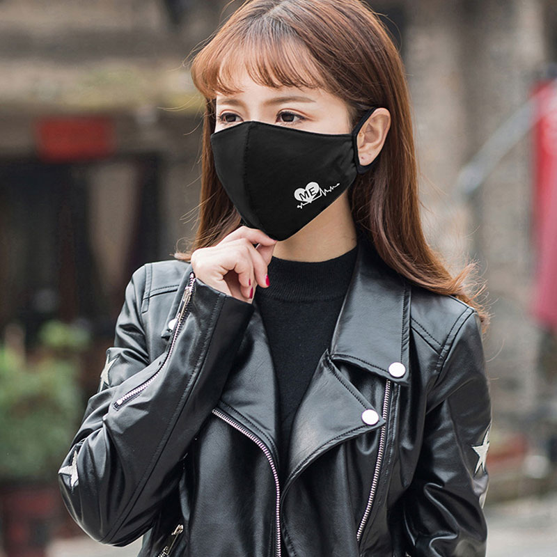 PM2.5 Fashion Black Luminous Mouth Mask Anti Dust Mask Windproof Mouth-muffle Bacteria Proof Flu Face Masks Care Reusable