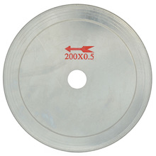 8 inch Super-Thin Arbor Hole 25mm Rim 0.65mm Diamond Lapidary Saw Blade Cutting Disc Saving in Material for Jewelry Gems Agate 3 4 5 6 8 inch ultra thin diamond saw blade cutting arbor disc stone agate cut jade cutting disc