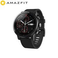 2019 Новинка Amazfit Stratos + флагманские Смарт часы натуральная кожа ремешок Подарочная коробка сапфир 2 S