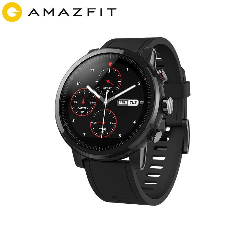 2019 nuevos Stratos Amazfit + reloj inteligente insignia correa de cuero genuino caja de regalo zafiro 2 S
