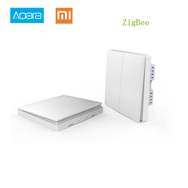 2018 Xiaomi Wall Switch / Wireless Key Aqara Smart light switch with Neutral wire Zigbee remote Control via Mijia mi Home APP