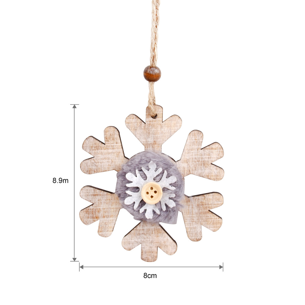 Us 1 15 Huiran Snowflake Wooden Christmas Decorations For Home Christmas Tree Ornaments Wood Vintage Xmas 2018 Happy New Year 2019 In Pendant Drop