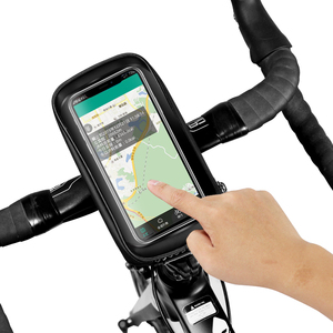 Image 4 - Универсальная Водонепроницаемая велосипедная сумка для телефона, держатель для телефона на руль, тачскрин, аксессуары для Bycicle