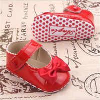 2017 nouveau Bowknot bébé chaussures à semelle souple antidérapant nourrissons berceau premiers marcheurs bambins filles princesse chaussures