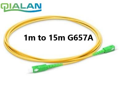 SC APC Fiber Patch Cable Optical Fiber Patch Cord 5m 2.0mm PVC G657A ,1m 2m 3m 10m Fiber Jumper Simplex SM FTTH Optic Cable