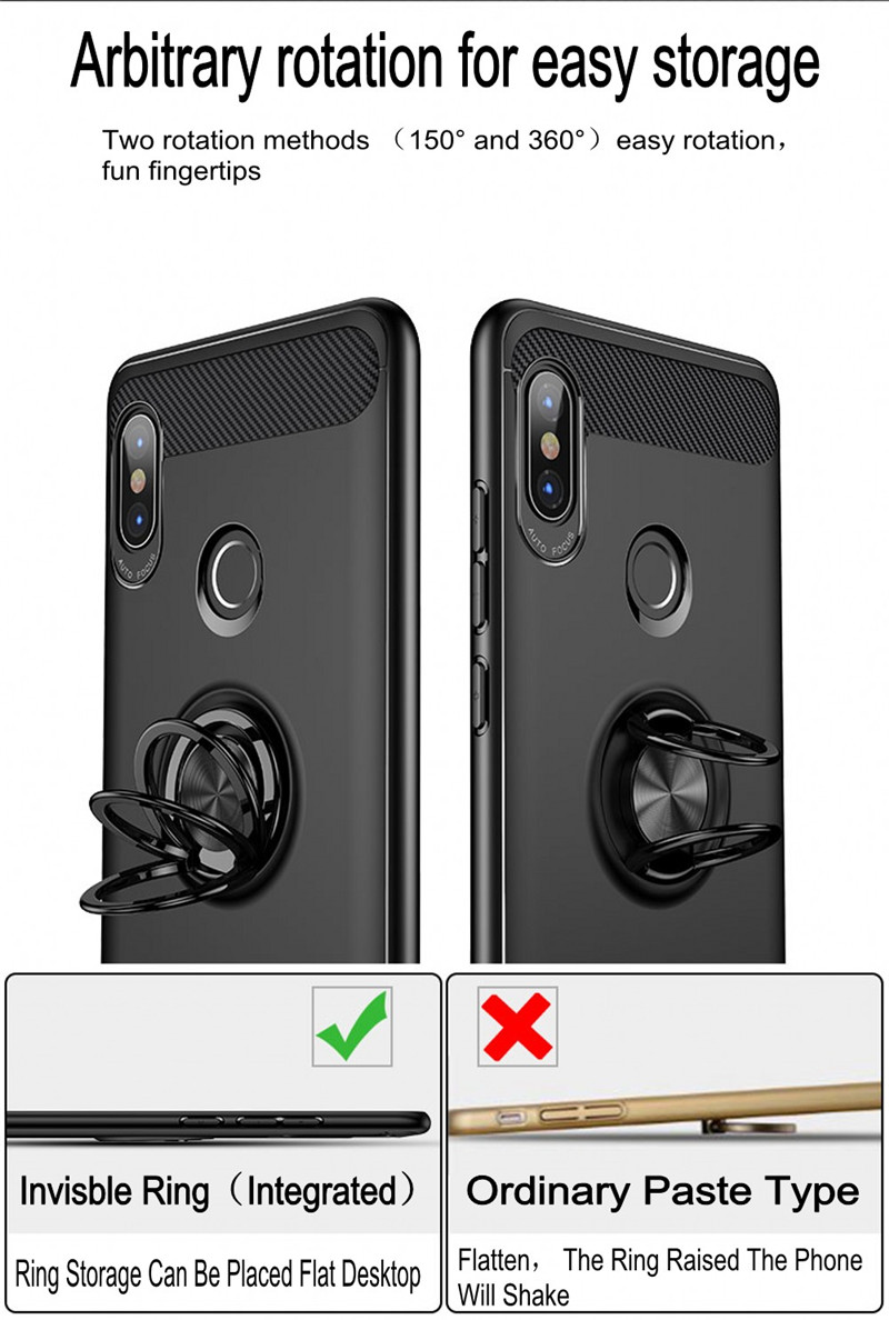 US $4 19 15% OFF|360 Finger Ring Magnetic Car Holder Case For Xiaomi Redmi  Noe 5 Global Version Soft TPU Silicone Cover For Redmi Note 5 Pro Case-in