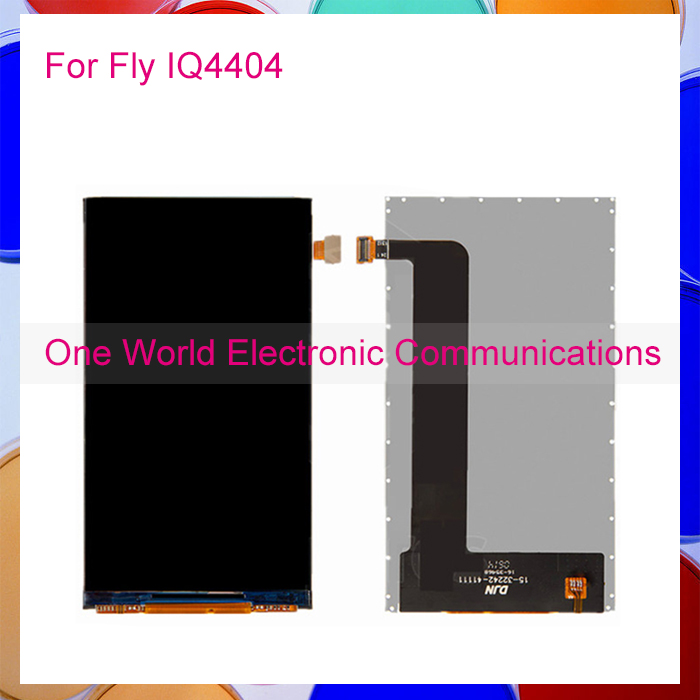 One World 1pcs lot High Quality For Fly IQ4404 Spark IQ 4404 Repair part LCD Display