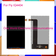 One World 1pcs/lot High Quality For Fly IQ4404 Spark IQ 4404 Repair part LCD Display Screen Tracking Code + Free Shipping