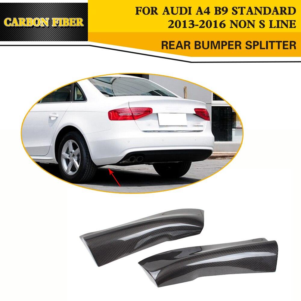 Styling carbon fiber car side aprons splitter for audi a4 b9 standard sedan 13 16