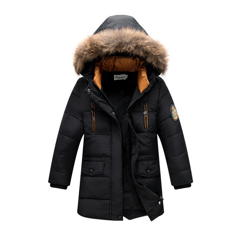2016 Children's 90%  duck Down Jackets/coats Parkas fur Big boy Coat thick Down feather jacket Outerwears winter -30degree 571